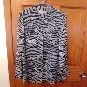 MK zebra button down